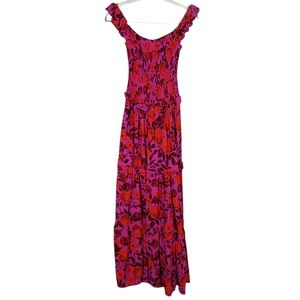 Abel The Label Purple Reign Floral Maxi Dress XS